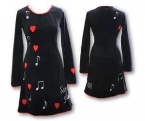 Bilde av Sangglede kjole, Sort velour