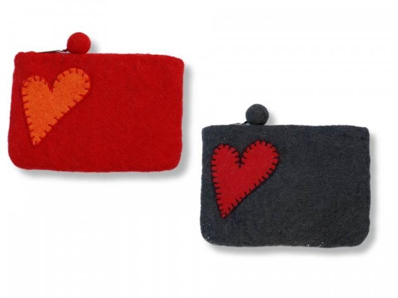 Liten pung med hjerte