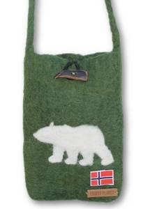 Bilde av Liten veske med isbjørn